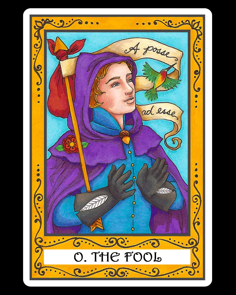 Fool From The Universal Waite Tarot: Happy New Year From The Fool!